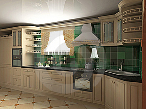 Interior of kitchen Stock Image