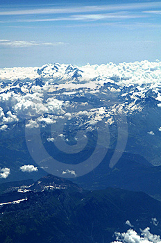 Aerial View Of Swiss Alps Royalty Free Stock Images - Image: 5943899