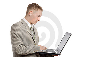 Young Businessman Working With Notebook Stock Photos - Image: 5948083