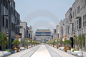 Qianmen street Royalty Free Stock Photography