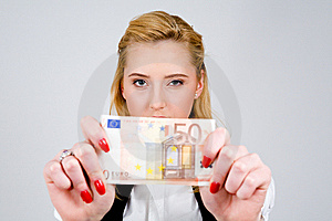 I Have Fifty Euro! Stock Images - Image: 5948754