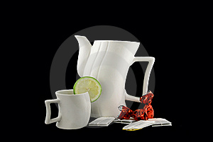 The Tea Complete Set Royalty Free Stock Images - Image: 5949269