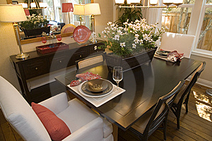 Luxury Home Dining Room. Stock Images - Image: 5952234