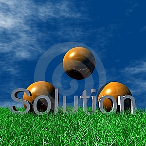 Logo Solution Royalty Free Stock Photography - Image: 5955757