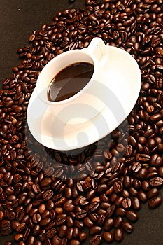 Coffee,coffee beans Royalty Free Stock Photos
