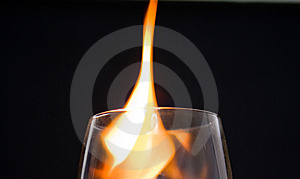 Glass With Fire Stock Images - Image: 5958874