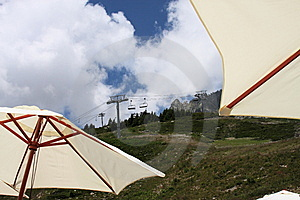 Ski Lift In Summer Royalty Free Stock Photos - Image: 5961238