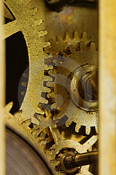 Internal Clock Mechanism Royalty Free Stock Photo - Image: 5962995