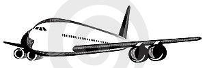 Airplane In Flight Stock Photo - Image: 5966530