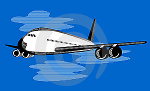 Airplane In Flight Royalty Free Stock Photo - Image: 5966565
