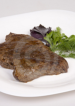 Fried beef steak Stock Images