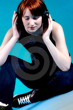 Concentrated On Hr Music Stock Photos - Image: 5968563
