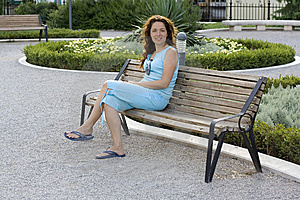 Woman In The Park Royalty Free Stock Images - Image: 5969009