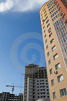 New Brick Multistory House Above Construction Stock Image - Image: 5969581