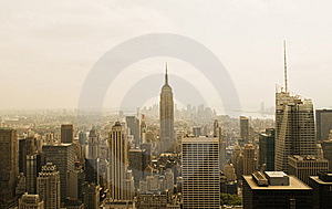 New York City from the Top of the Rock Royalty Free Stock Photo