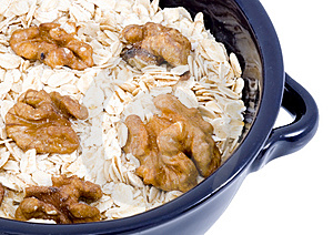 Bowl Of Oatmeal Stock Photo - Image: 5972020