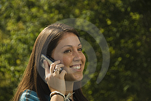 Girl On Cell Phone Royalty Free Stock Photo - Image: 5972025