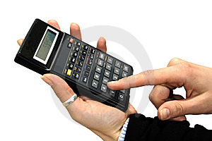 Calculator And  Hands Stock Photos - Image: 5972303