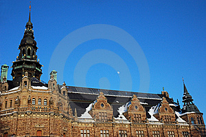 Nordic Museum Moon Stockholm Royalty Free Stock Images - Image: 5972479