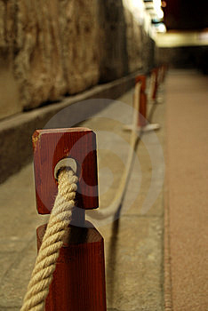 Rope Barrier Royalty Free Stock Photos - Image: 5978728
