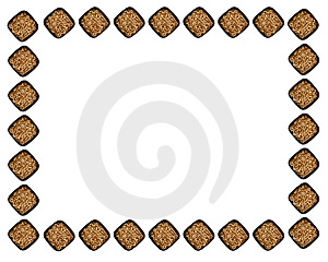 Sprouted Wheat Berries Frame Stock Photography - Image: 5983862