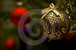 Gold Glass Ball Royalty Free Stock Image - Image: 5986906