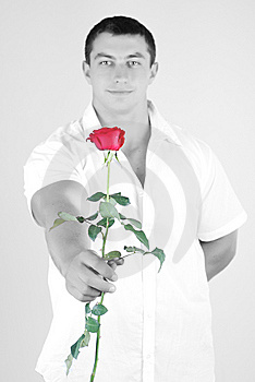 Athlete With Rose Stock Photography - Image: 5987852