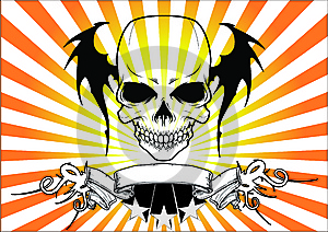 Skull With Text Area Stock Photo - Image: 5988830