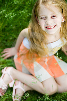 Smiling Cute Little Girl, Selective Focus Stock Photography - Image: 5990102