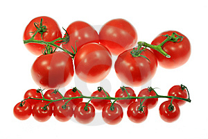 Tomatoes On White. Royalty Free Stock Images - Image: 5990879