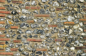 Detail Of Roman Wall, Saint Albans, Englan Royalty Free Stock Images - Image: 5991019