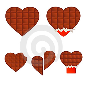Chocolate Hearts Royalty Free Stock Photography - Image: 5991417