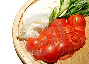 Mozzarella And Tomatoes Royalty Free Stock Photography - Image: 5991617