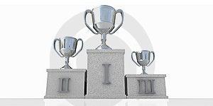 Winners Podium Stock Image - Image: 5993901