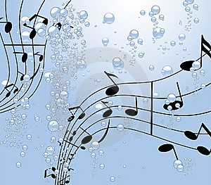 Music Under Water Royalty Free Stock Image - Image: 5998216