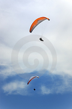 Two Persons Flying In The Sky Royalty Free Stock Photo - Image: 5998905