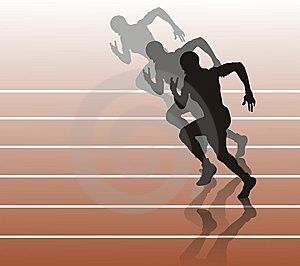 The Person Of The Footrace Stock Photos - Image: 5999033