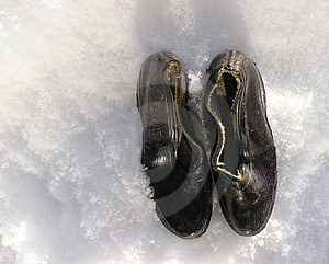 Tappning som regnar shoes1 Royaltyfri Foto