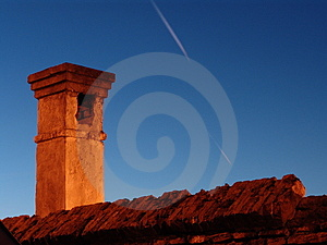 Old brick chimney Stock Photography