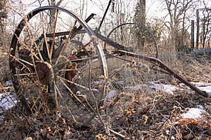 Rusty Wheel Free Stock Photography