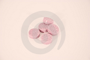 Pink candies Royalty Free Stock Image