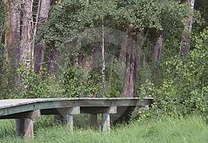Passaggio pedonale di legno Immagine Stock Libera da Diritti