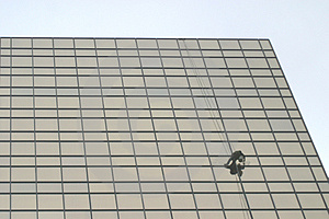 Window Washer Stock Image