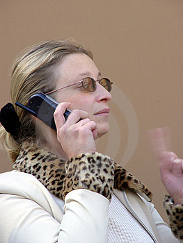 On The Phone Free Stock Image