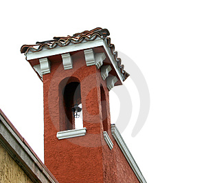 Tower With Tile Roof Stock Photos
