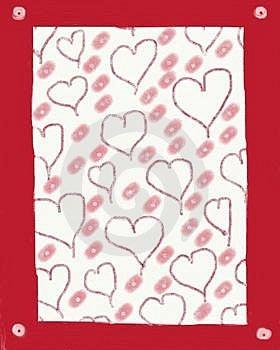 Folk Art Valentine Stock Photography