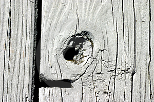 Painted Knot Hole Free Stock Image