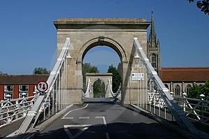 Marlow Suspension Bridge Royalty Free Stock Photo