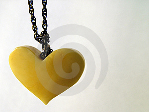 Valentine Amber Heart 1 Free Stock Photo