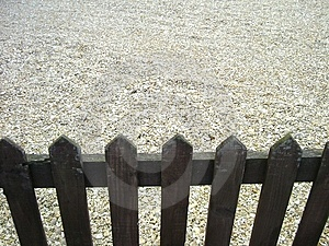 Fencing stones Royalty Free Stock Image